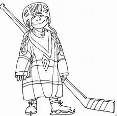 junge spielt eishockey ausmalbild malvorlage comics