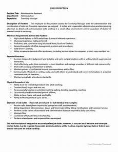 Senior Administrative Assistant Job Description Administrative Assistant Job Opening East Rockhill