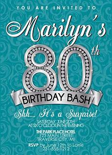 80th Birthday Invitation 80th Birthday Invitation Birthday Party By