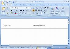 Ms Word Website Template Ms Word 2007 Create A Template From A Blank Document