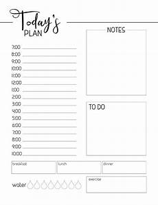 Free Printable Daily Planner Template Free Printable Daily Planner Template Paper Trail Design