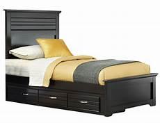 carolina furniture platinum panel storage bed in black