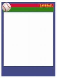 Baseball Card Templates Baseball Card Templates Free Blank Printable Customize