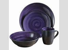 Mcleland Design 16 Pc. Stoneware Dinnerware Set   Purple