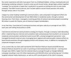 How To Write A Career Summary Cal Davis Summary Jobscan Blog