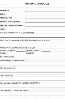 Formatos Para Referencias Laborales Formato De Referencias Personales Imagui
