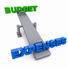 Budget And Expenses Budget Versus Expenses Stock Illustration Illustration Of