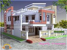 Floor Plans Of Houses In India Modern Indian House In 2400 Square Home Kerala Plans
