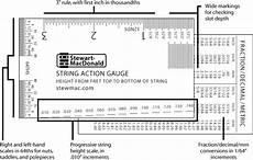 Guitar String Diameter Chart String Action Gauge Stewmac Com