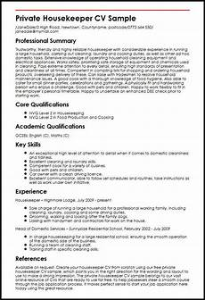 Housekeeping Resume Format 14 15 Housekeeping Resumes Samples Southbeachcafesf Com