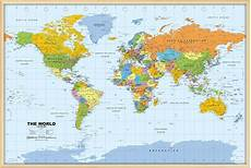 World Maps Online World Pinboard Map With Light Wood Frame World Framed