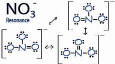 No Ion Resonance Structures For No3 Nitrate Ion Youtube