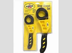 PENNZOIL 2 Piece Strap Wrench Clench Grip Jar Opener Pipe