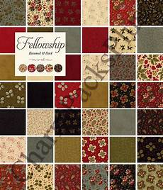 fellowship moda charm pack five inch quilt fabric by
