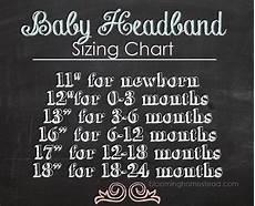 Foe Headband Chart Diy Baby Headband Diy Baby Headbands Baby Sewing Baby