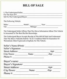 Bill Of Sale Example Michigan Bill Of Sale Form For Dmv Car Boat Pdf Amp Word