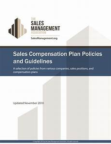 Sales Compensation Plan Template Sales Compensation Plan Format And Content Guidelines