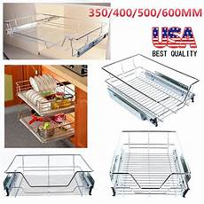 kitchen pull out wire sliding basket rack cabinet storage