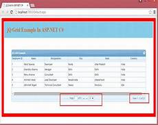 Jqgrid In Asp Net C