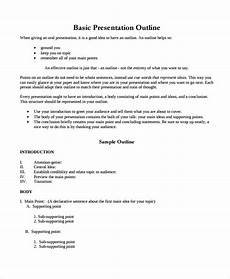 Powerpoint Presentation Outline Example Free 6 Sample Presentation Outline Templates In Pdf