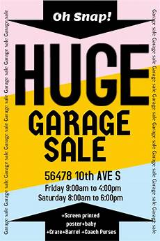 Garage Sale Flyers Examples New Flyer Templates For Spring Amp Garage Sales Design Studio