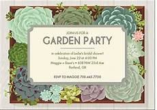 Garden Party Invites Perfect Bridal Shower Amp Bachelorette Invites For Every