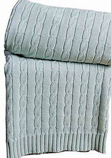 homescapes cable knit throw duck egg blue 100