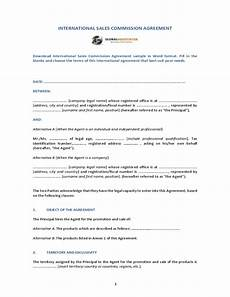 Commission Agreement International Sales Commission Agreement Free Download