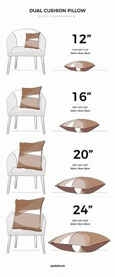 Cushion Size Chart Dual Leather Cowhide Pillow Cushion 183 Brown By Capra Leather
