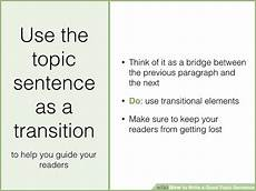 Examples Of Topic Sentences For An Essay How To Write A Good Topic Sentence With Sample Topic