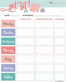 Printable Exercise Tracker Get Fit Printable Exercise Tracker Dorky Doodles