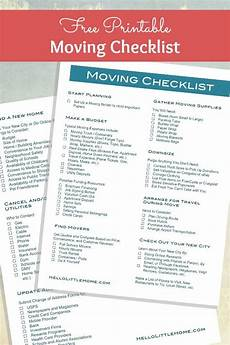 To Do Lists For Moving How To Plan A Big Move Free Printable Moving Checklist