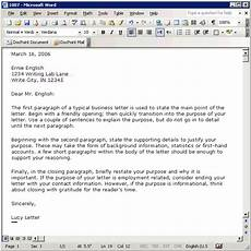 Business Letter Template Microsoft Word Tutorial Creating A Business Letter Template