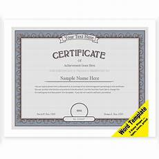 Free Editable Certificate Templates Certificate Editable Word Template Printable Instant Etsy