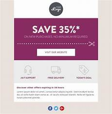 Html Coupon Template Basic Coupon Transactional Email Template For Fashion