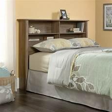 Queen Bookcase Headboard With Lights Queen Bookcase Headboard In Salt Oak 419321