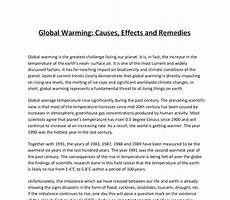 Causes And Effects Of Global Warming Essay Problem Of Global Warming Essay Free Global Warming