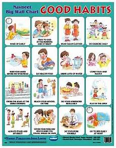Good Habits Chart For School Write A Book Fast Good Habits For Kids What Is Your Goal