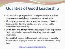 Qualities Of A Good Leader Essay Bach Essays The Esteemed Self