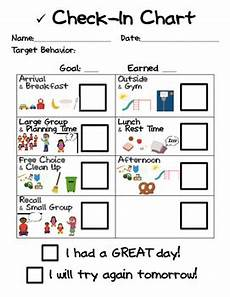 Check In Check Out Chart Behavior Check In Chart Preschool By Klooster S Kinders