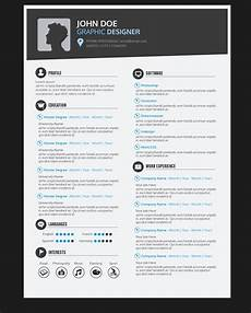 Cv Sample For Graphic Designer Graphic Designer Resume Cv Vector Download