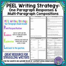 Writing Strategy Peel Writing Strategy Short Responses And Multi Paragraph