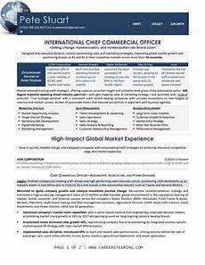 Construction Executive Resume Samples Chief Commerical Officer Executive Resume Sample