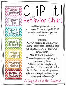 Home Use Behavior Chart Clip It Behavior Chart A Cupcake For The Teacher