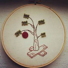 brown tree embroidered gift stitchnsift
