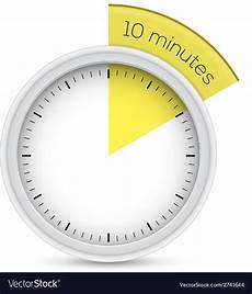 Timer 10 Minutes Stop Watch 10 Minutes Timer Royalty Free Vector Image
