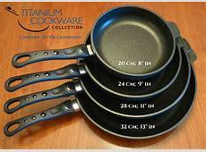 Titanium Frying Pan That Won't Warp. Naturally Non Stick