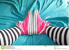 chucks on bed stock image image of fashionable home