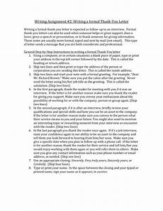 How To Thank Someone For Writing A Letter Of Recommendation Formal Thank You Letter Writing Assignment
