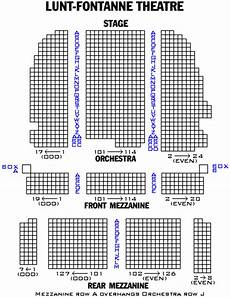 Lafontaine Theater Seating Chart Lunt Fontanne Theatre Playbill